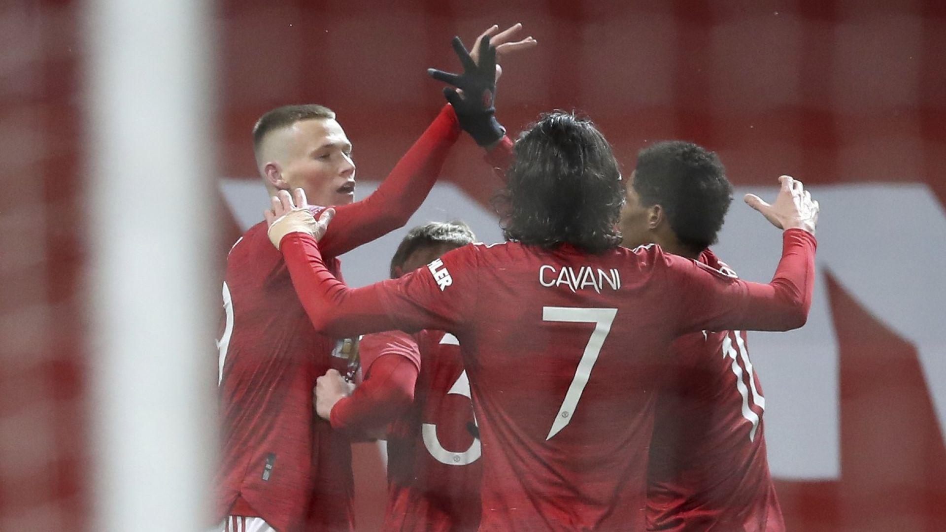 Манчестър Юнайтед продължава за Купата след гол в 98-ата минута