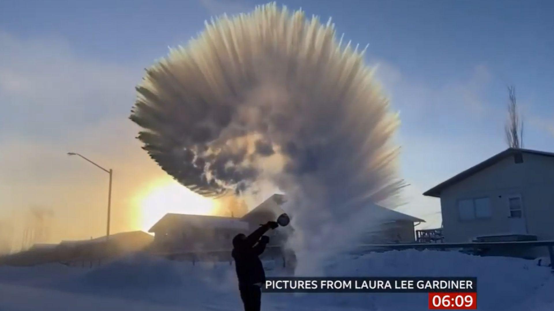 Как се забавляват в Канада на минус 40 градуса (видео)