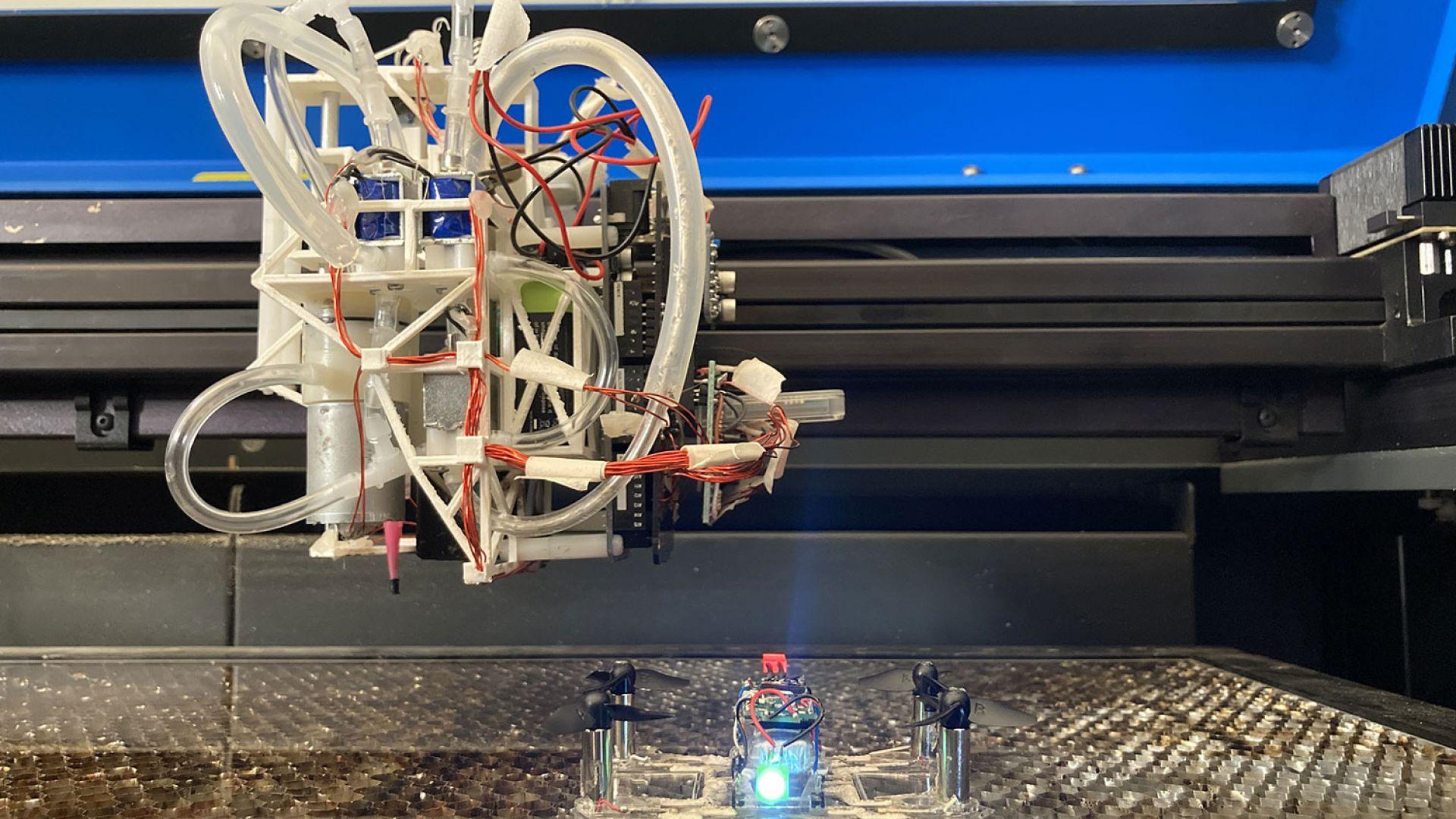 Създадоха 3D принтер за дронове и роботи