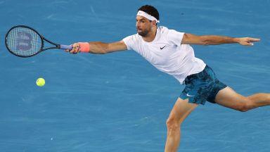 Григор се развихри и е в трети кръг на Australian open с победа в полунощ