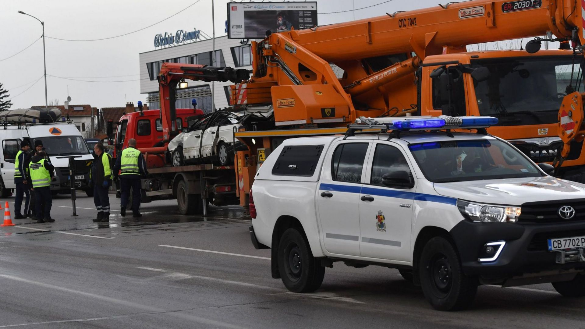 Две катастрофи с един загинал в София: Смъртоносна каскада и бетоновоз-беглец