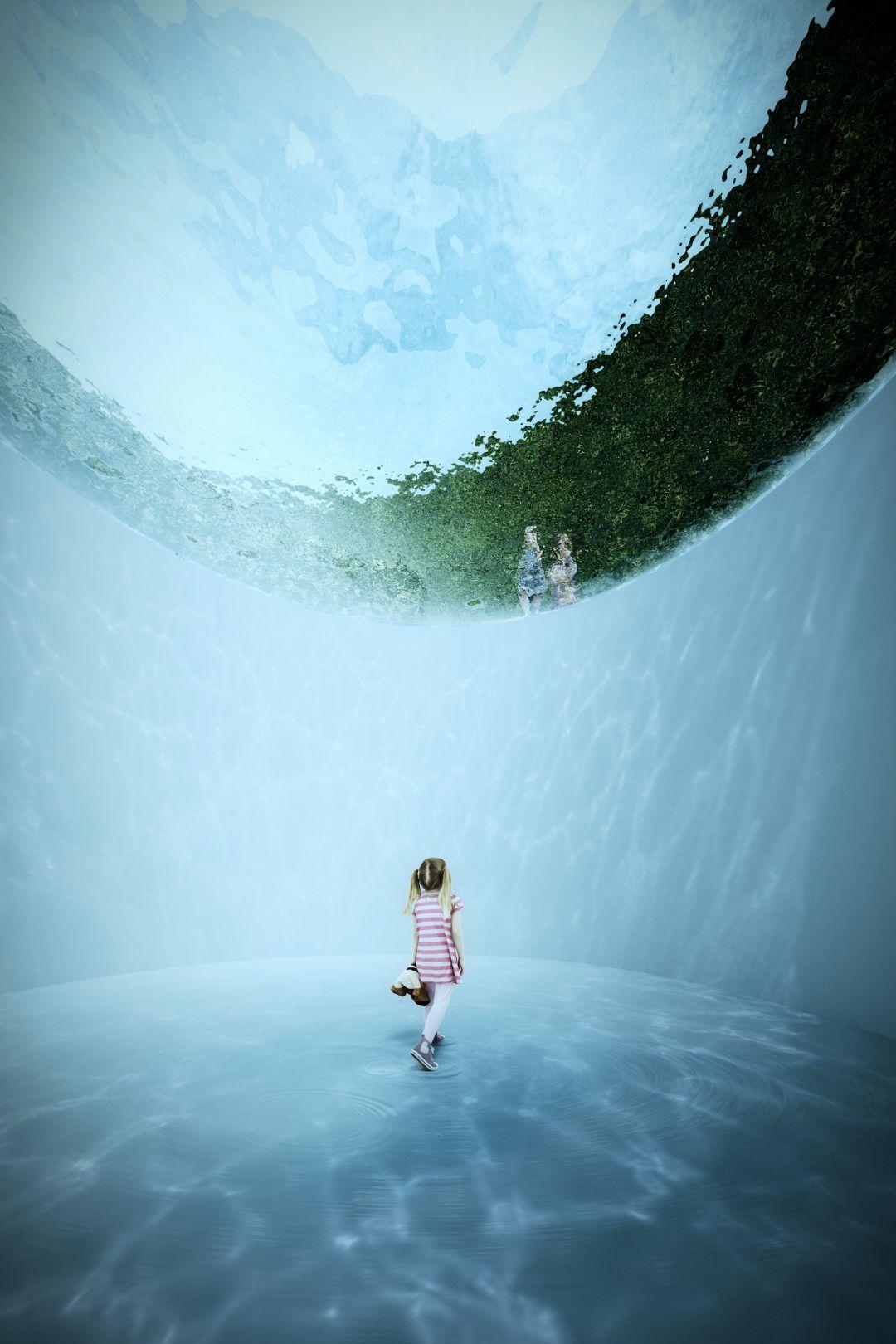Като Малката Русалка - визуализация от бъдещия музей на Андерсен