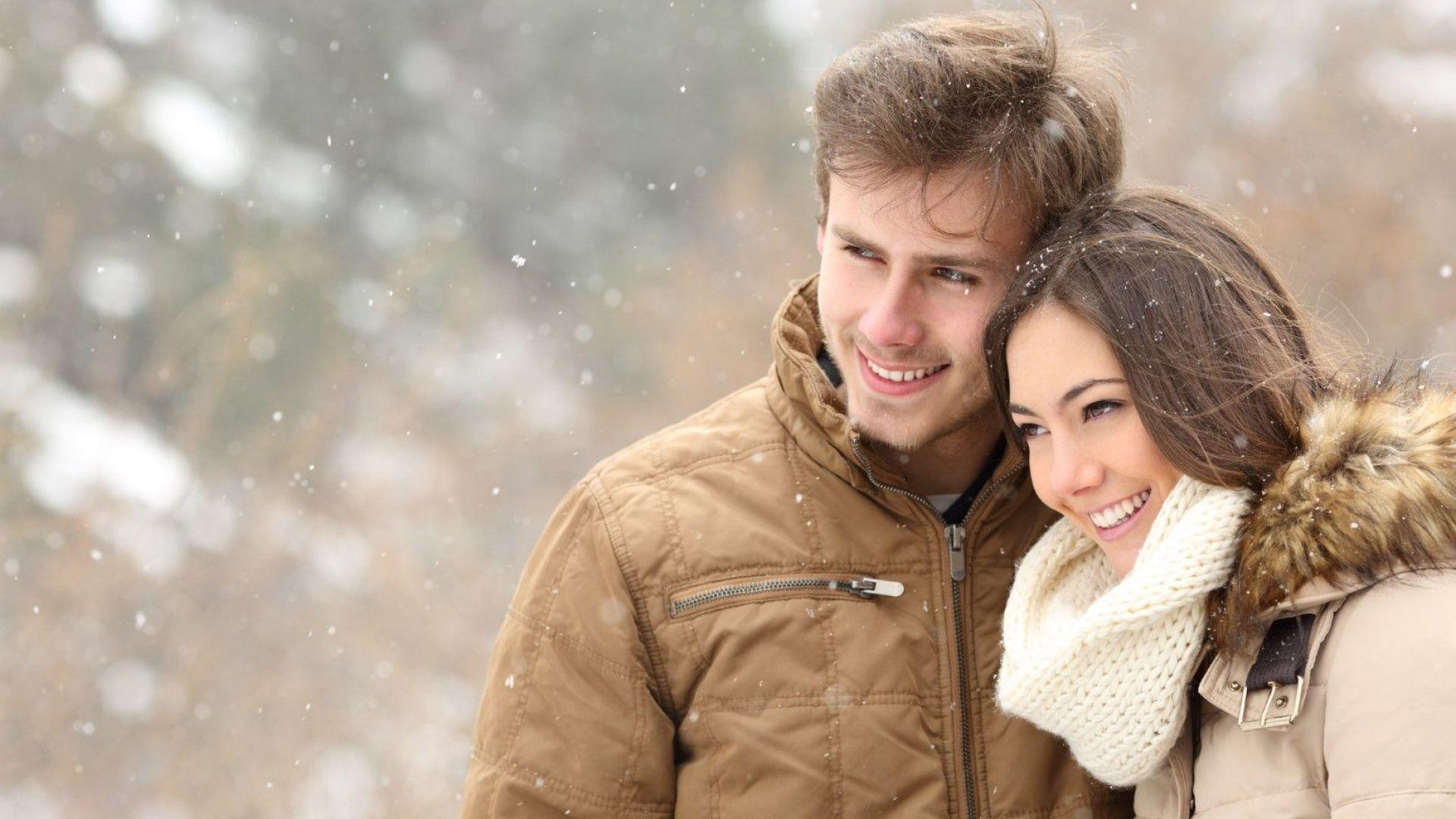 Студ и сняг в Деня на влюбените
