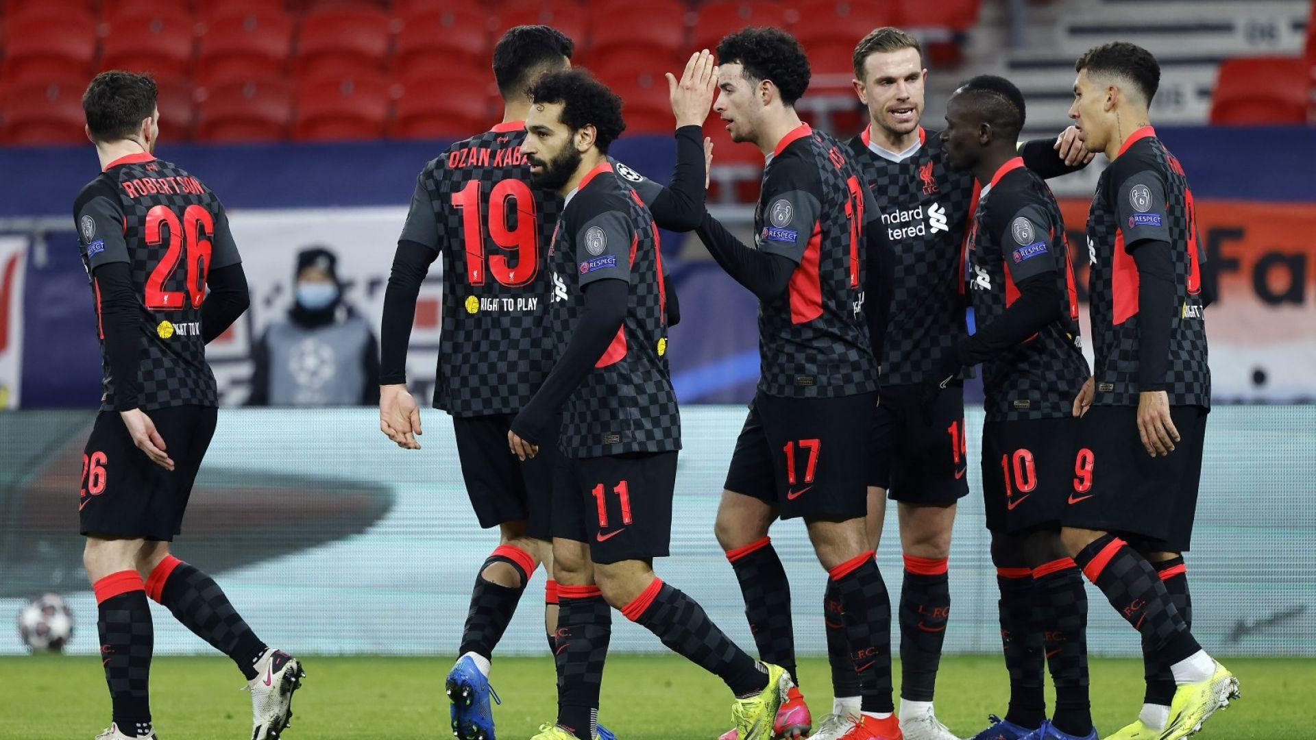 Ливърпул стъпи с единия крак в четвъртфиналите на Шампионска лига