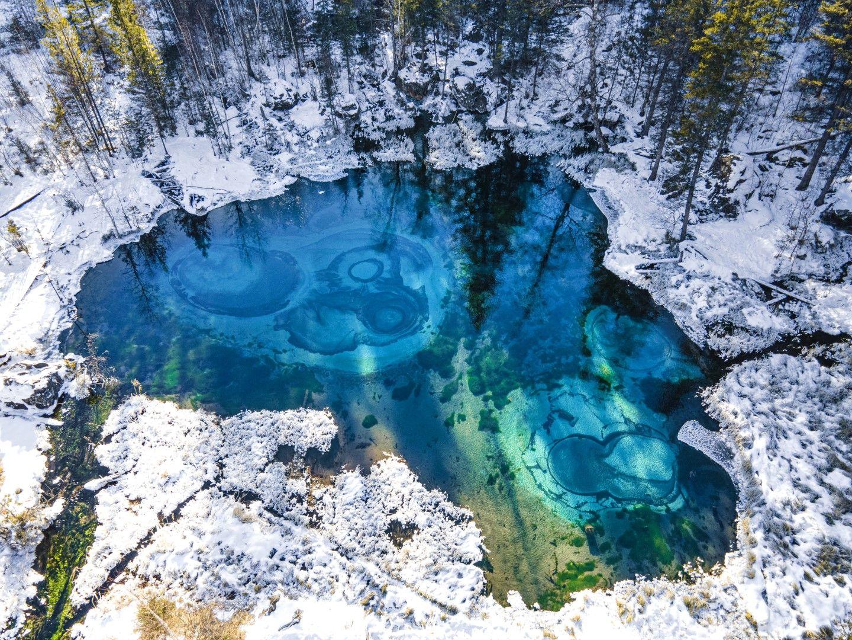 Термален извор край село Акташ, Сибир