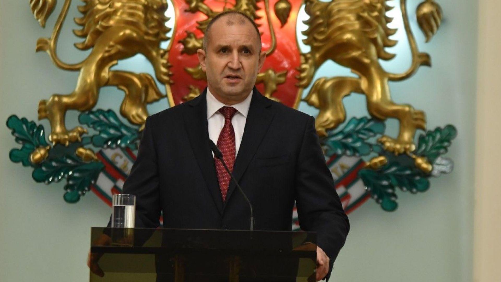 Президентът очаква от партиите да се произнесат по посланието му за Нова България