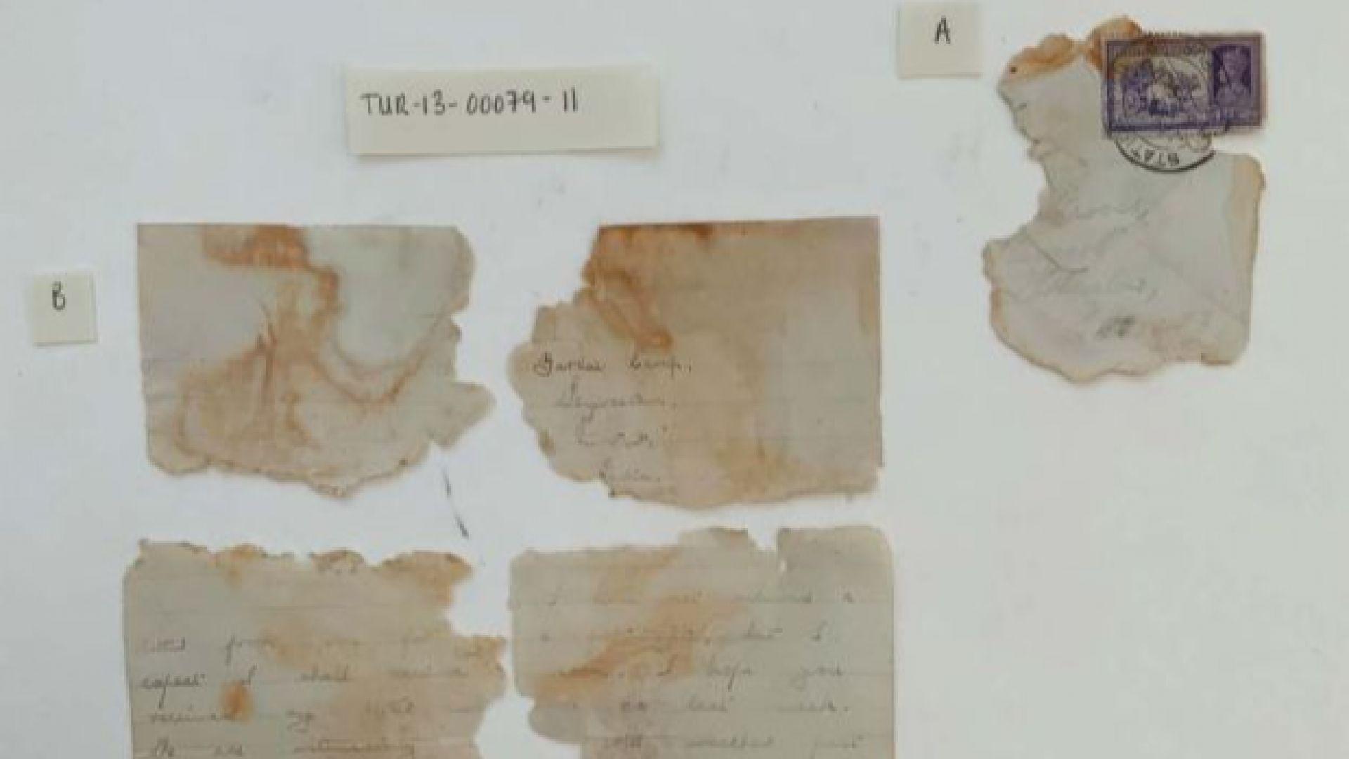 Разчетоха любовно писмо от торпилиран преди 80 г. кораб