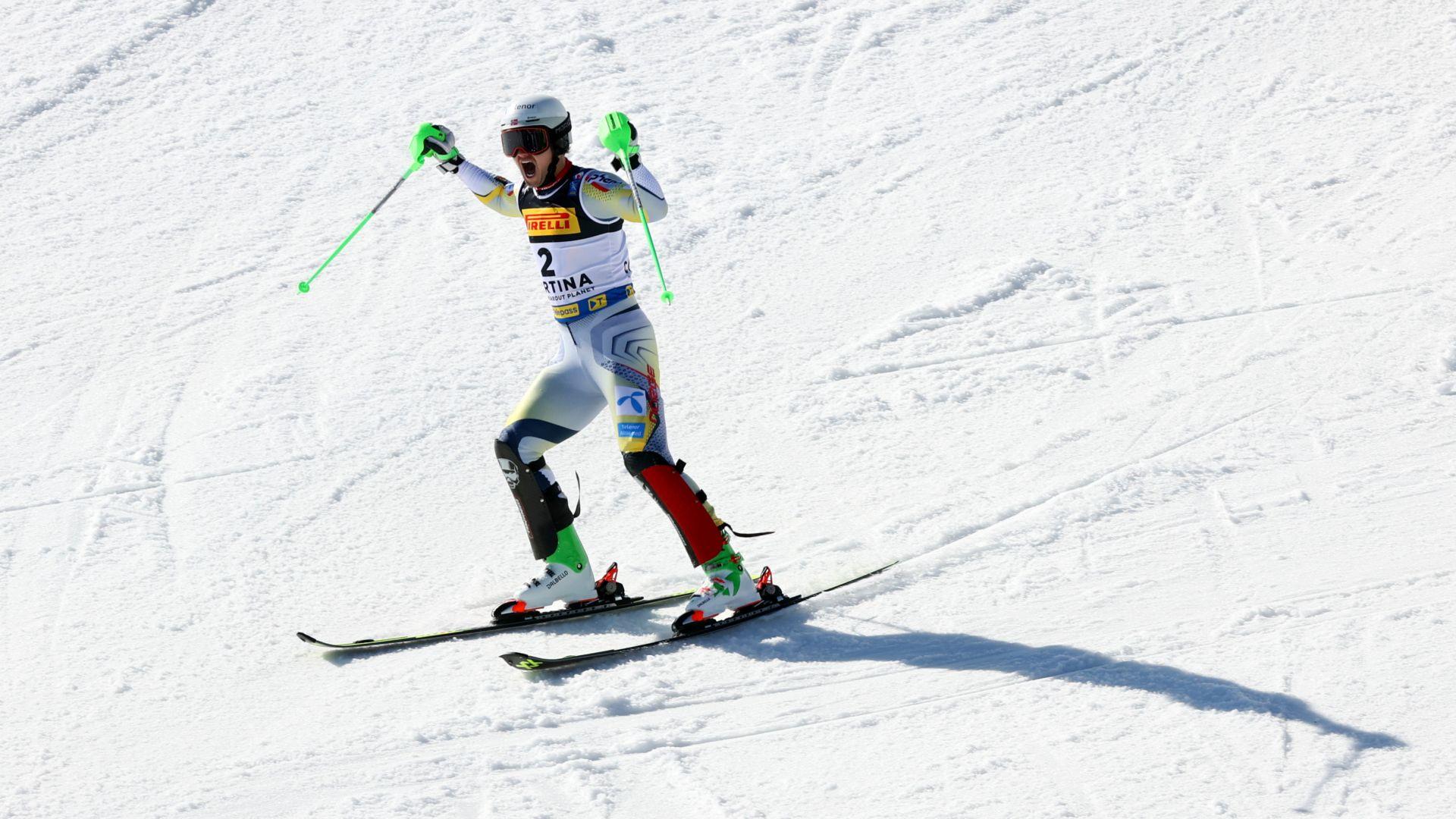 Световното по ски приключи със злато за Норвегия в слалома