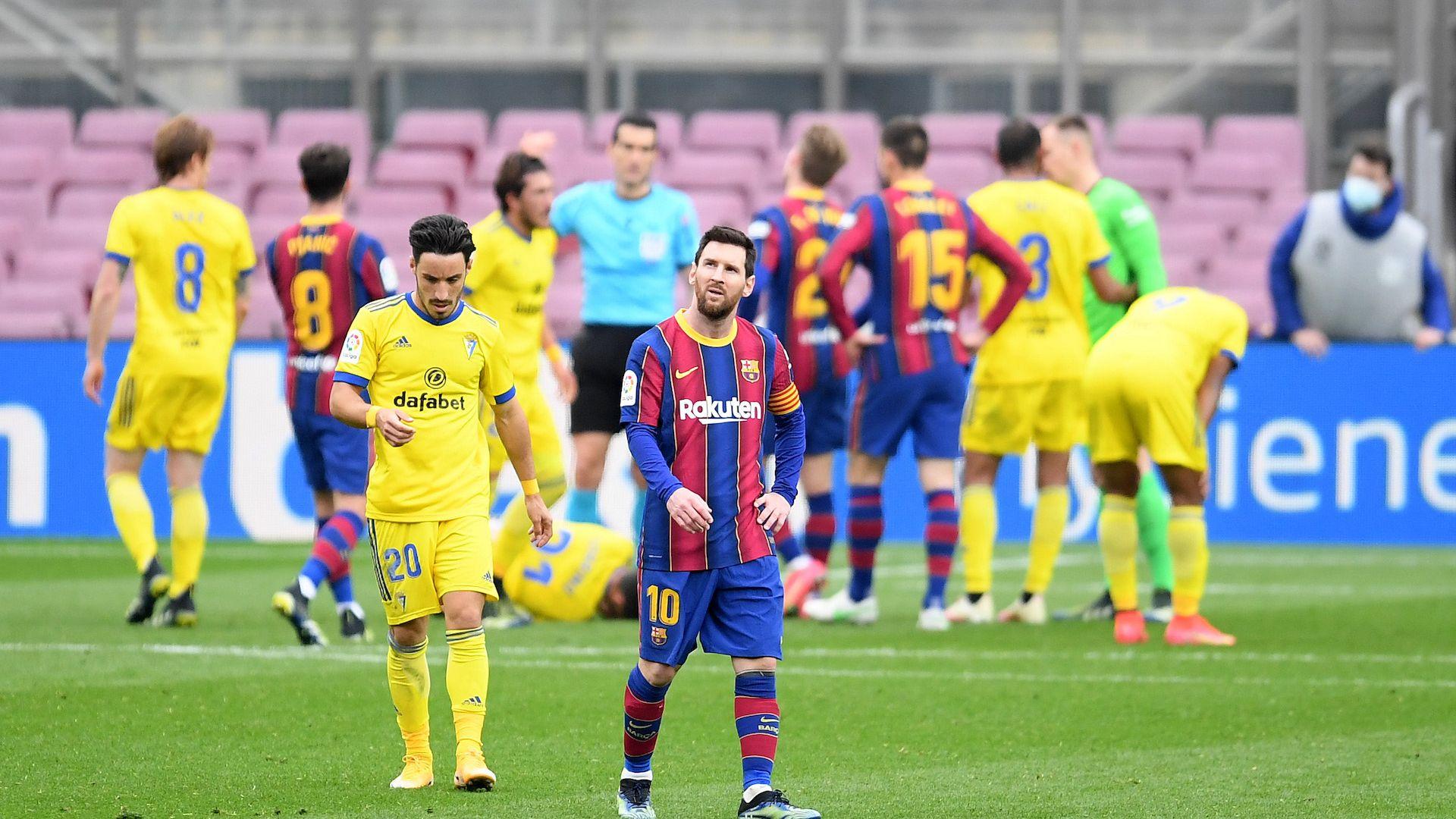 Издънка срещу новак помрачи поредния рекорд на Меси в Барселона