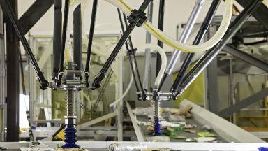 Трирък робот сортира ефективно боклуци за рециклиране
