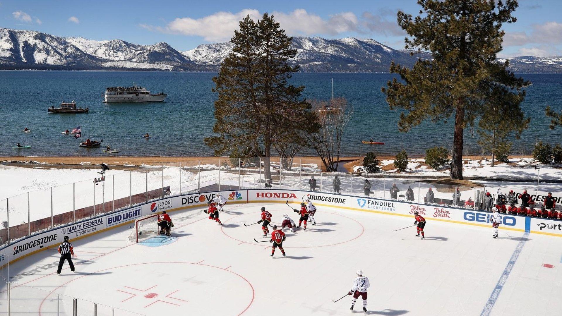 Хокей край езерото - най-живописният уикенд в историята на НХЛ (Снимки)