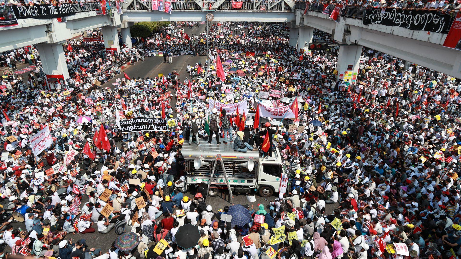 ЕС налага санкции срещу военните, отговорни за преврата в Мианма