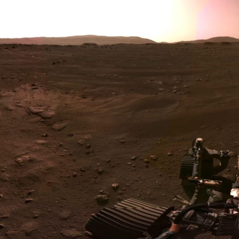 НАСА показа панорамна снимка на Марс, направена от Пърсивиърънс (видео)