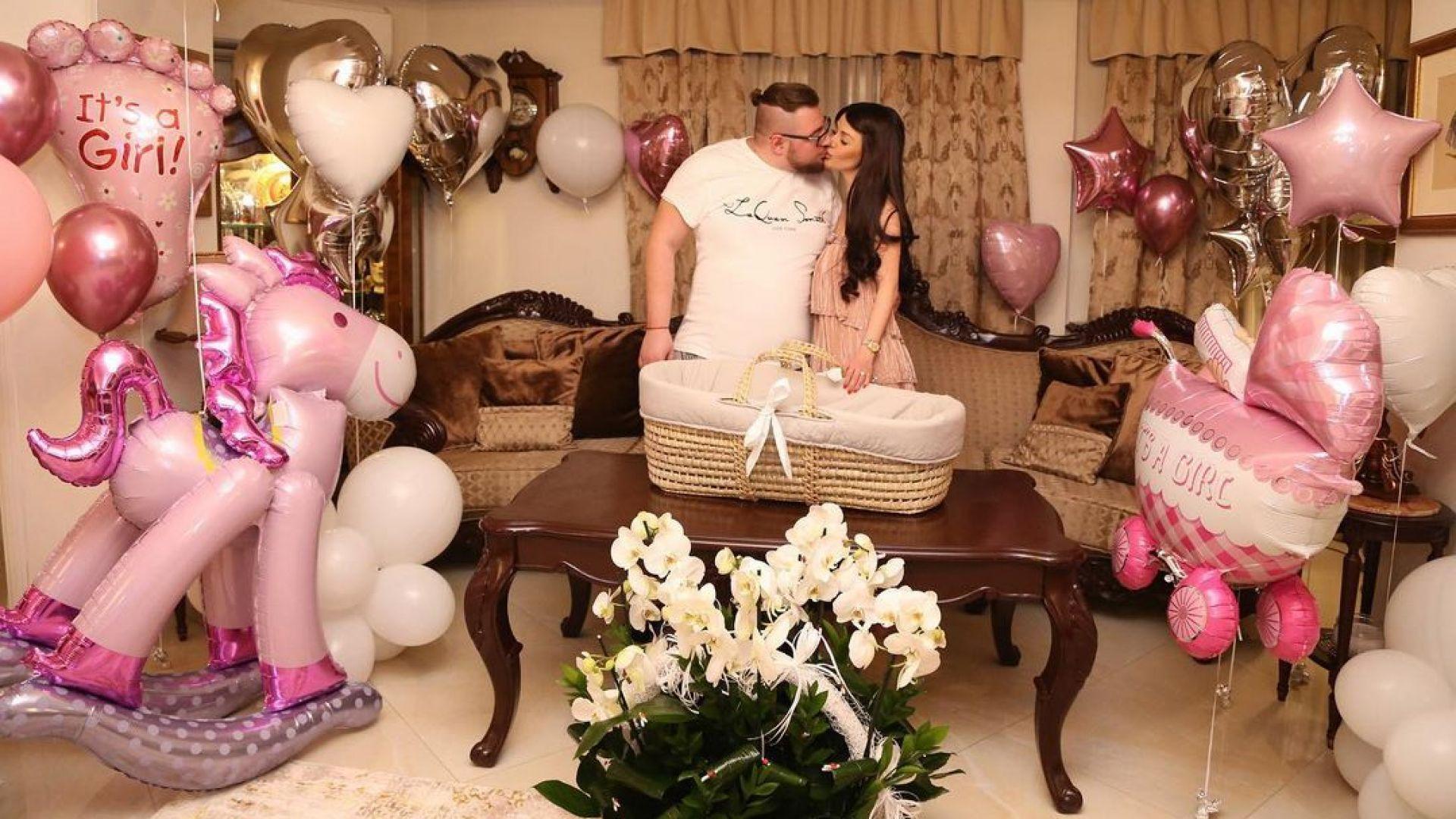 Светлана и Християн Гущерови отпразнуваха втория рожден ден на дъщеричката си