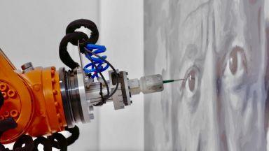 Робот с изкуствен интелект рисува шедьоври