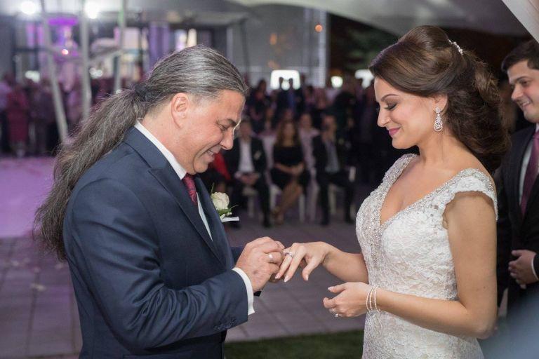 Наско и съпругата му Ивана на сватбата им в Ниш през октомври 2017 г.
