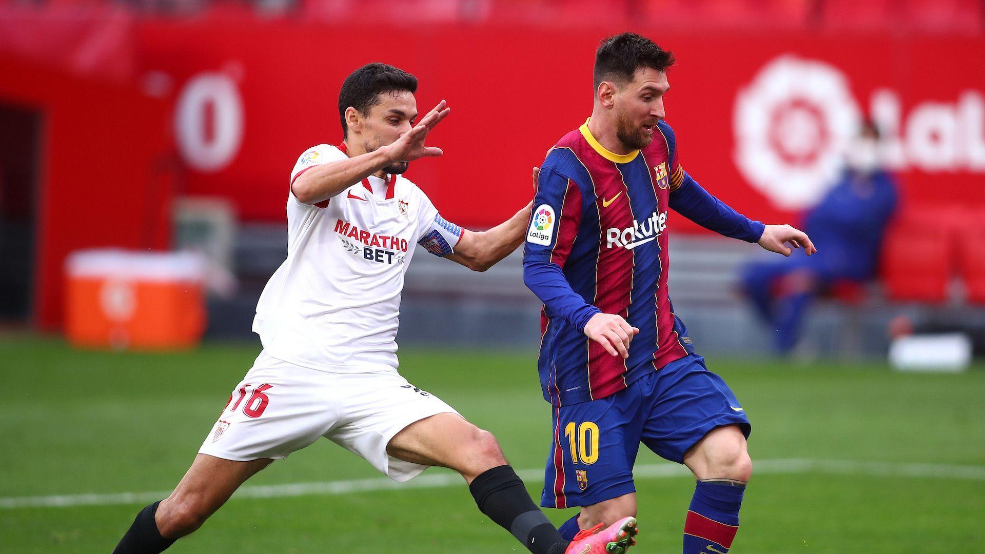 Меси дирижира победа на Барселона в Севиля