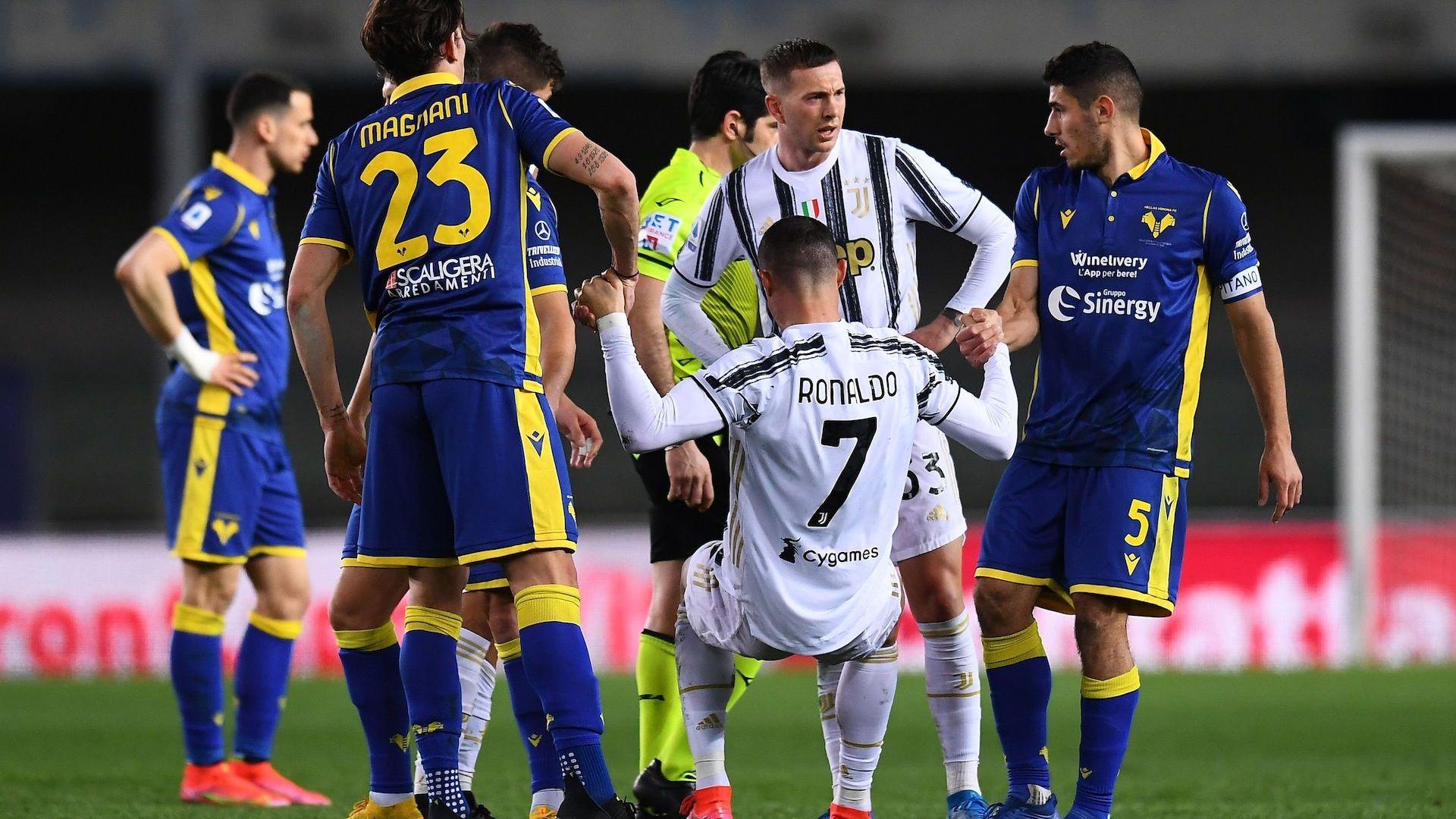 Гол на Роналдо не стигна на Ювентус във Верона