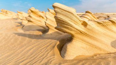 Фосилните дюни на Абу Даби - чудото на пустинята (снимки)