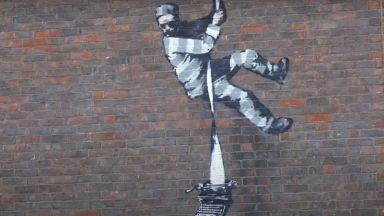 Банкси призна авторството на графити върху затворническа стена в Рединг