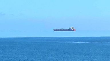 """Заснеха """"летящ"""" кораб до бреговете на Англия"""