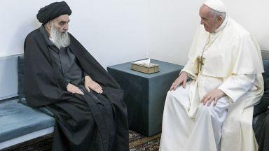 Историческа среща между папа Франциск и най-висшия шиитски духовник  в Ирак
