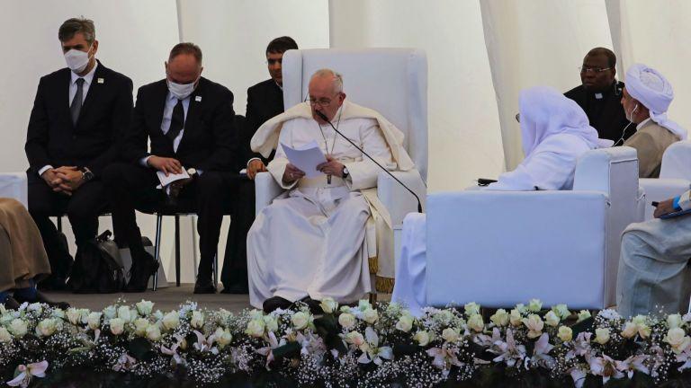 Папа Франциск дойде в Ирак като поклонник мира, а в