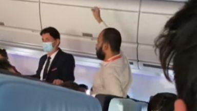 Ето какво е правил индиецът на борда на принудително кацналия самолет в София (видео)