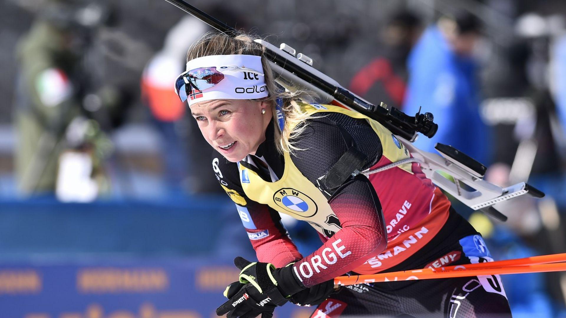 Норвежка продължава да доминира сезона в женския биатлон