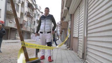 Пропадналият в дупка на тротоар пловдивчанин ще съди общината