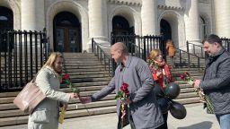 """""""Черен Осми март"""" събра жени на протест пред Съдебната палата"""
