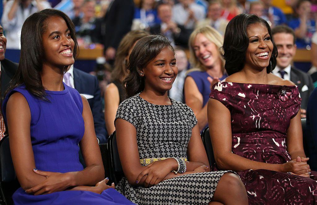 Мишел с дъщерите си Саша и Малия