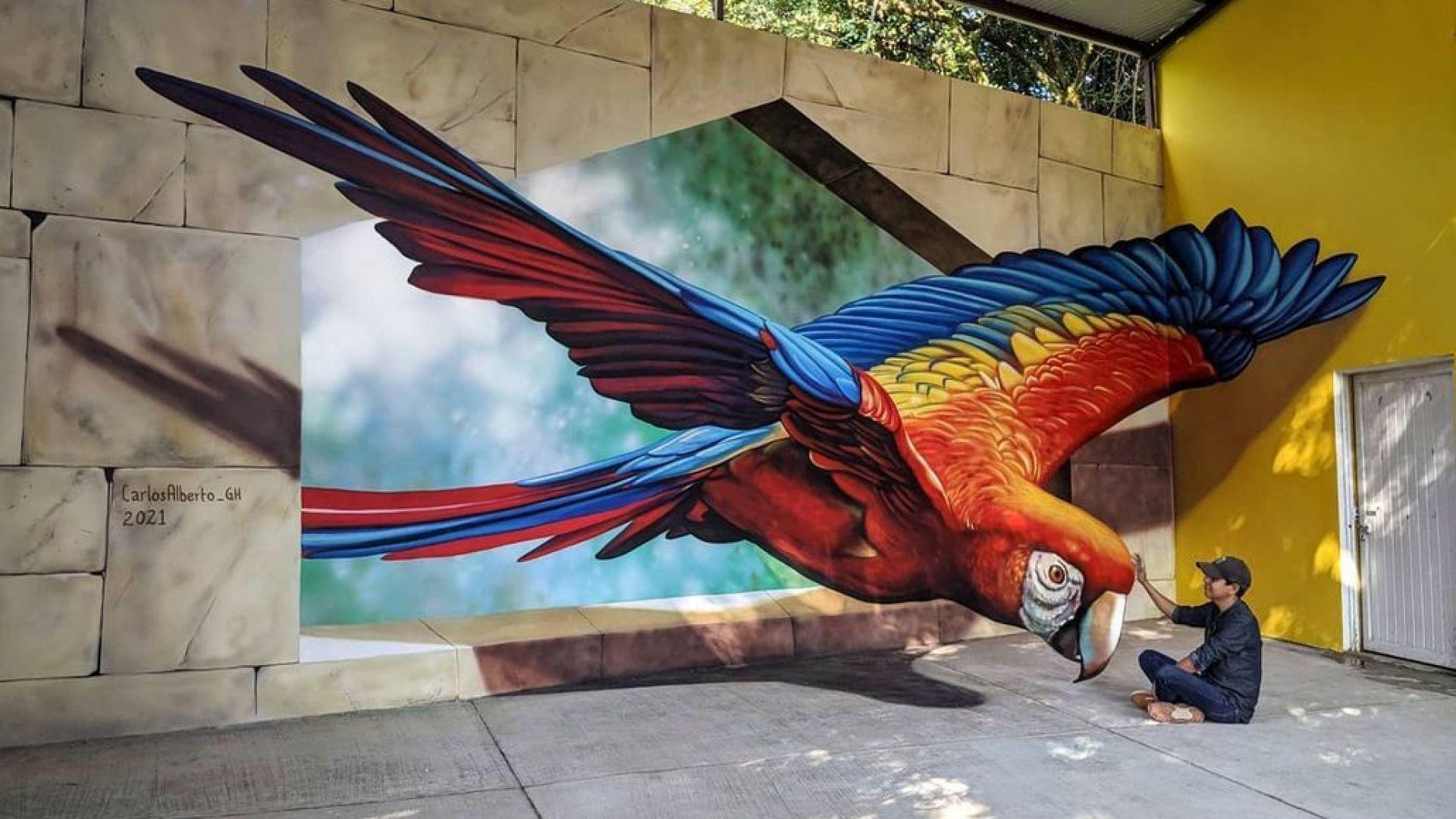 Илюзия или реалност: Уличният художник, чиито творби сякаш оживяват