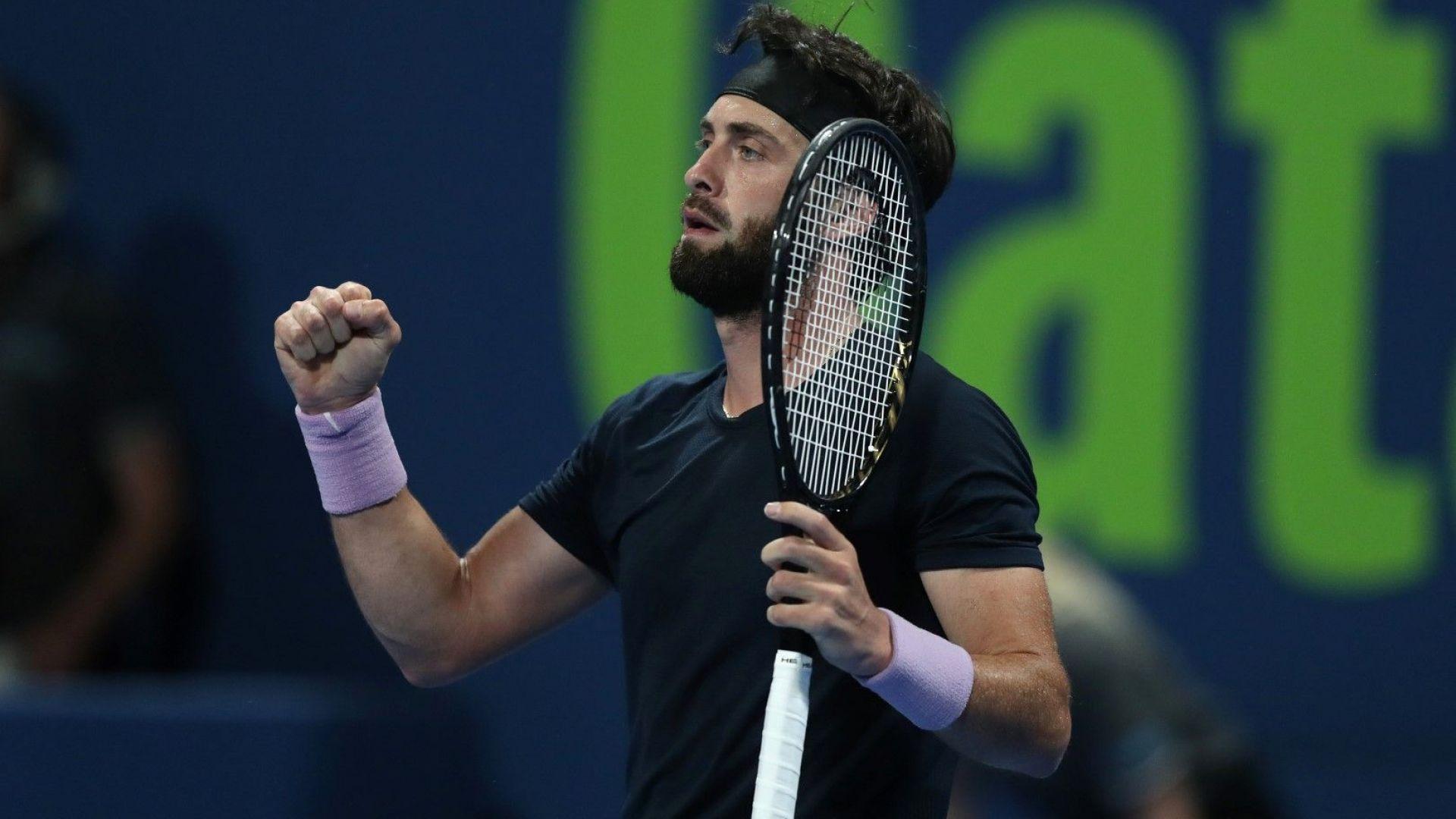 Грузинец вгорчи завръщането на Федерер още във втория мач