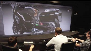 Нов електрически мотоциклет в кортежа на Путин (видео)