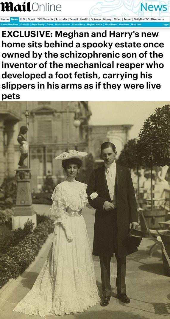 Стенли Маккормик и съпръгата му Катрин