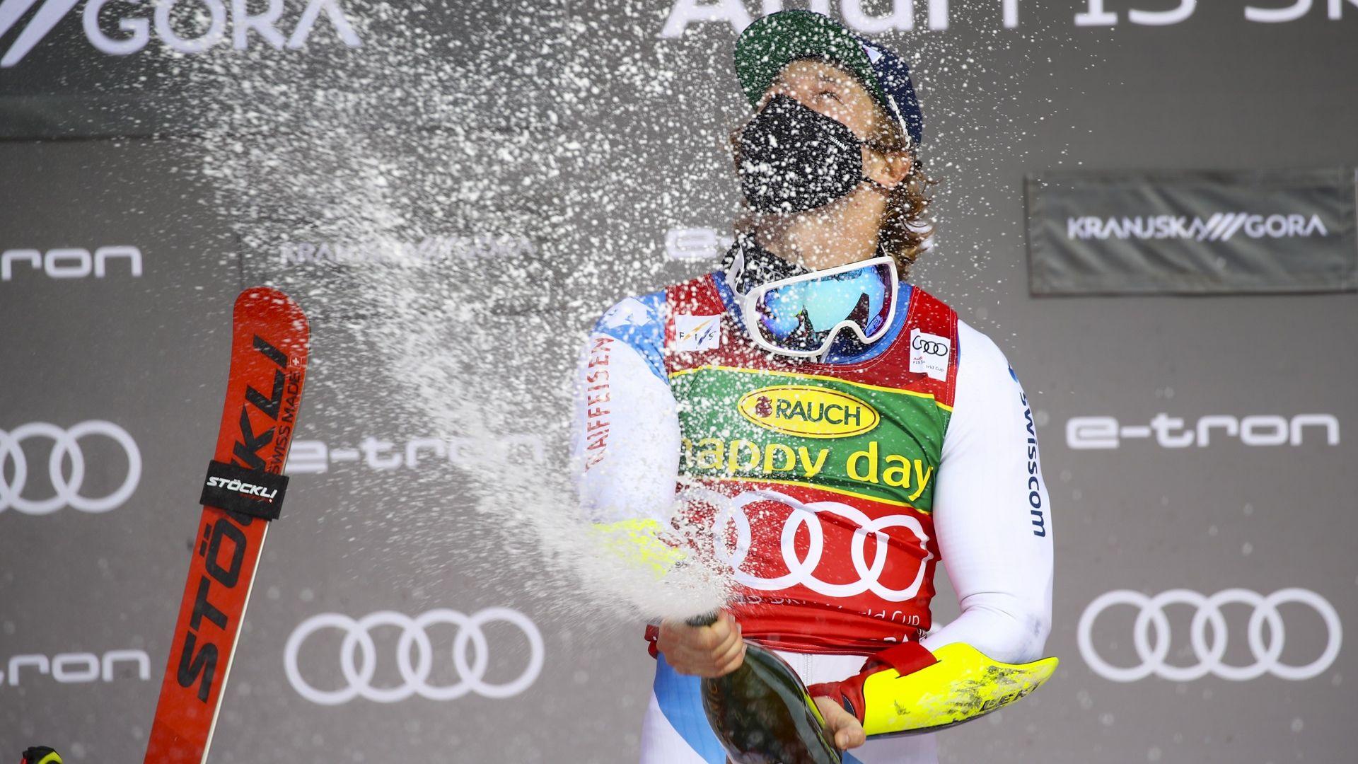 Швейцарец спечели в Словения и дръпна пред Пентюро за малкия Кристален глобус