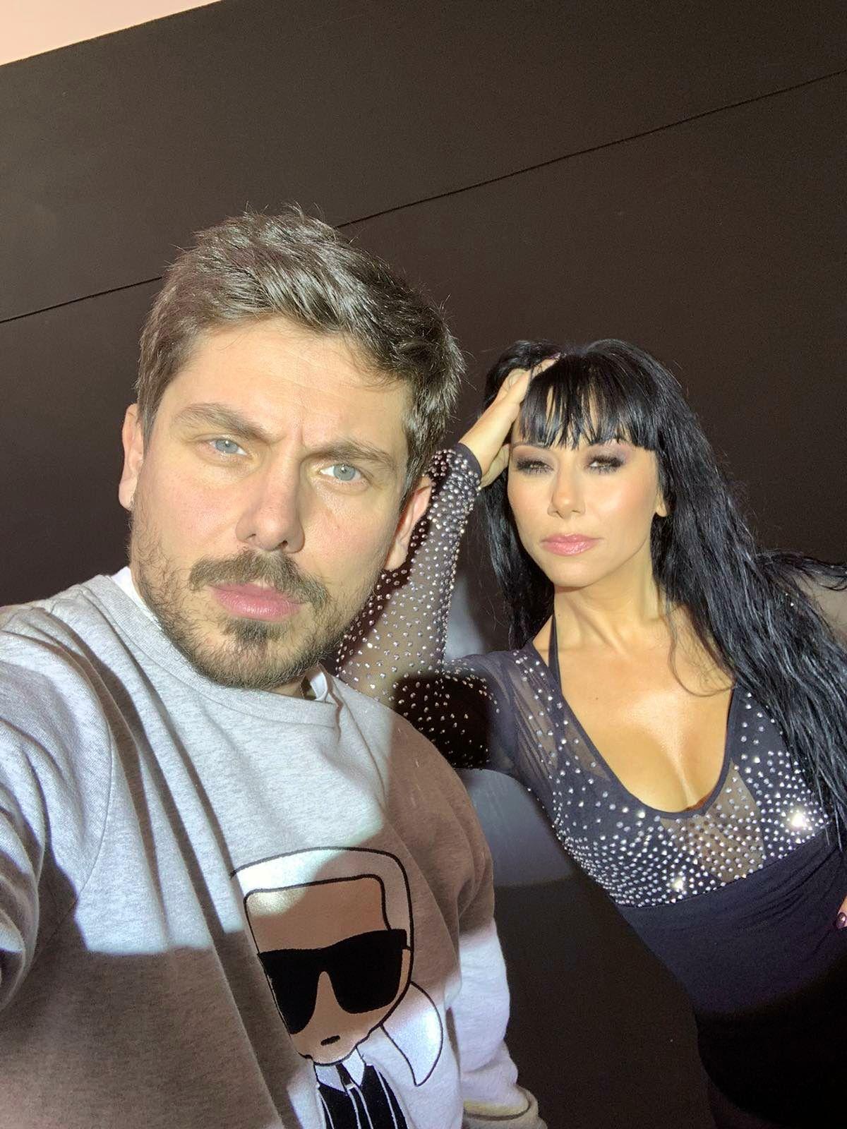 Теди Кацарова с режисьора на клипа Костадин Кръстев-Коко