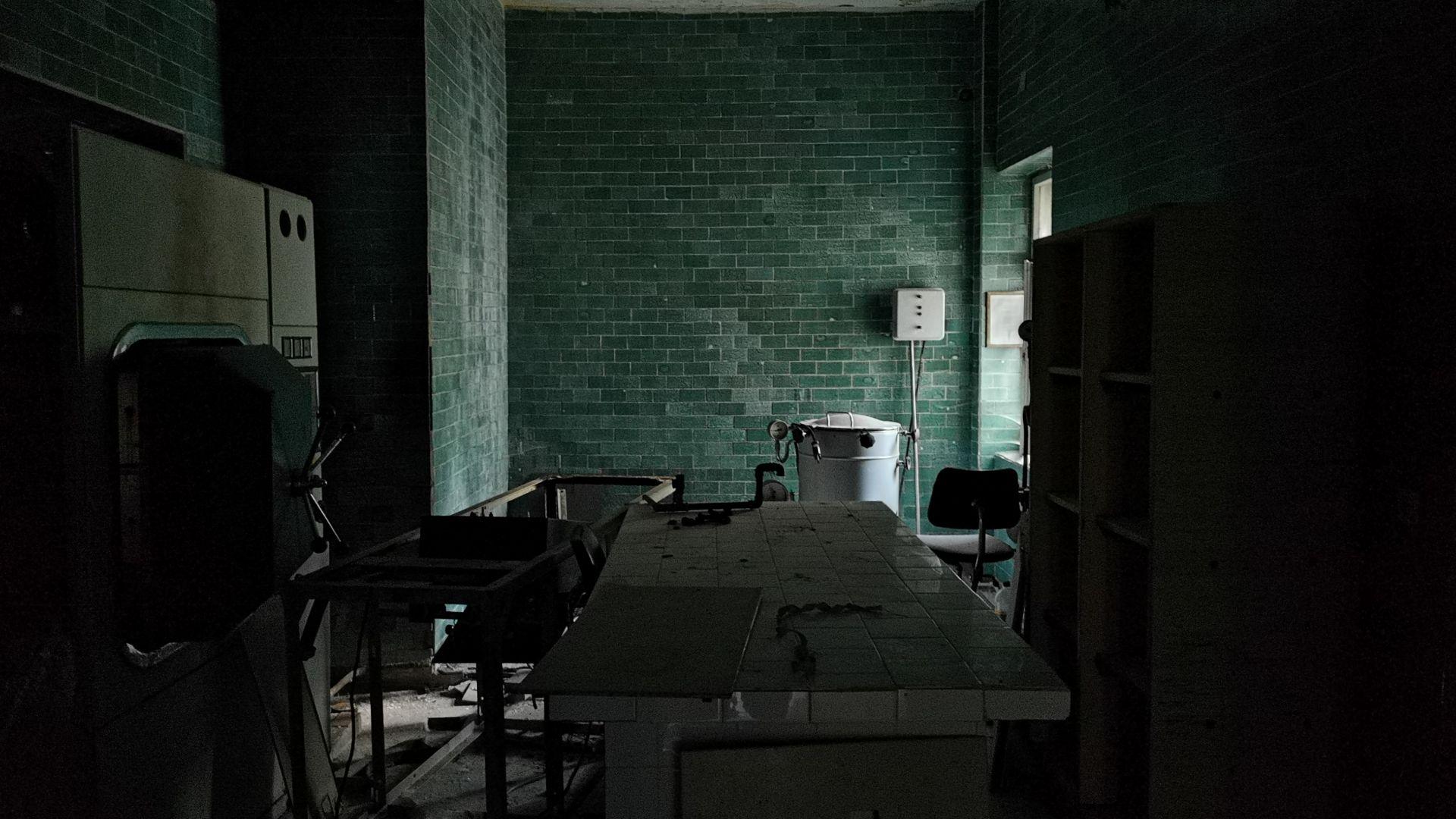 Мястото за почистване на медицинския инвентар