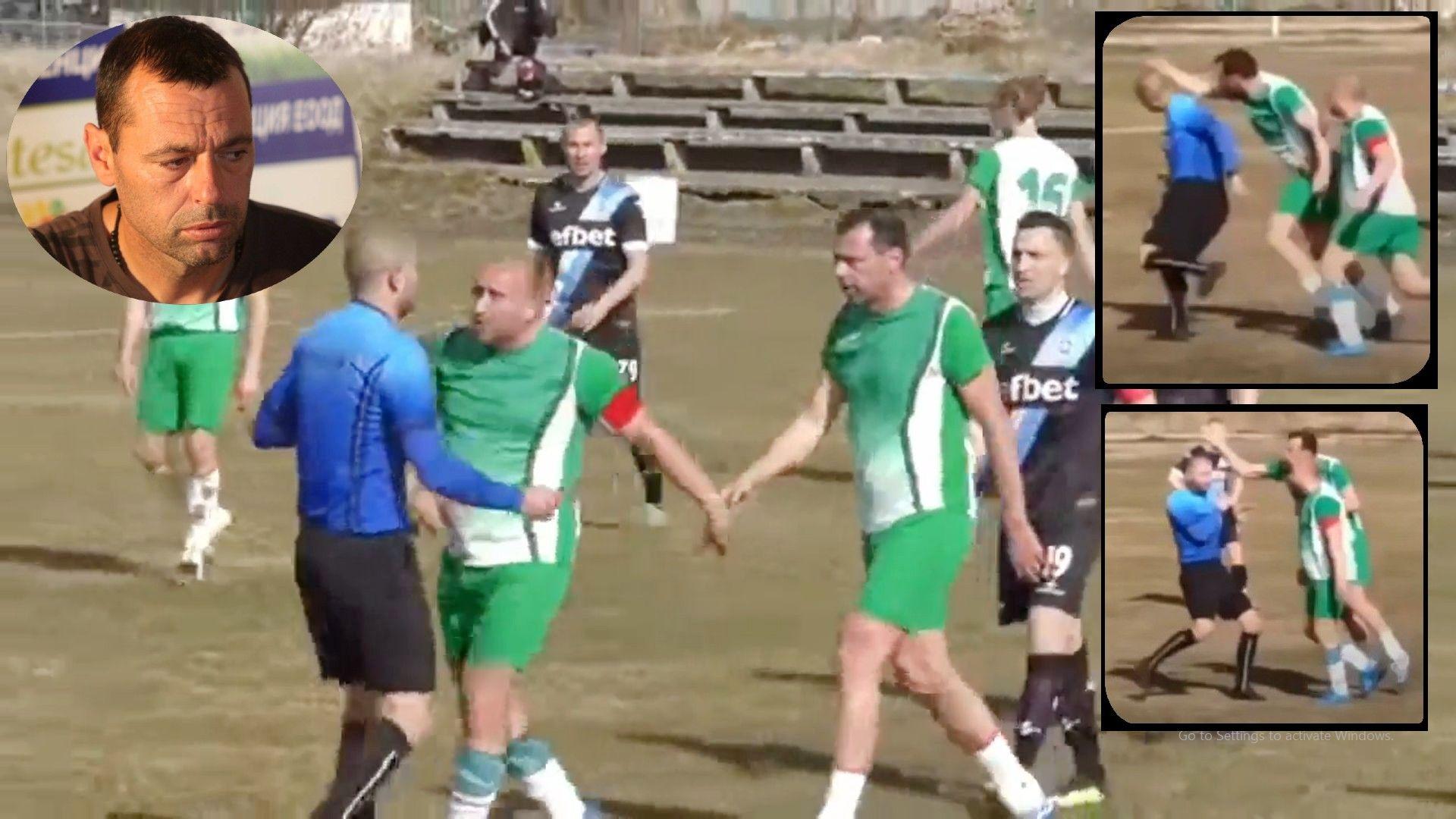 Извадиха бившия национал Караджинов за 2 г. от футбола заради агресията към рефер