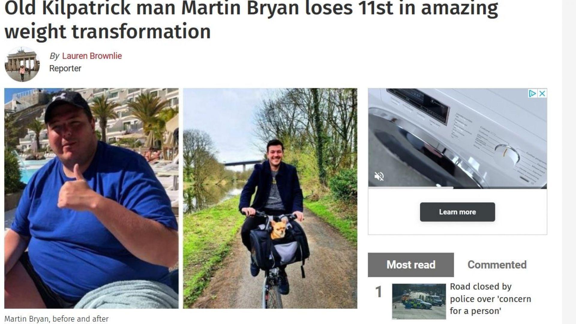 Мъж отслабна със 70 кг и сподели диетата си. Вижте какъв е ключът към успеха му