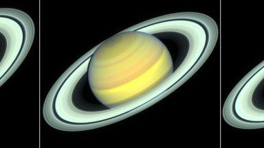 """""""Хъбъл"""" засне смяната на сезоните на Сатурн"""