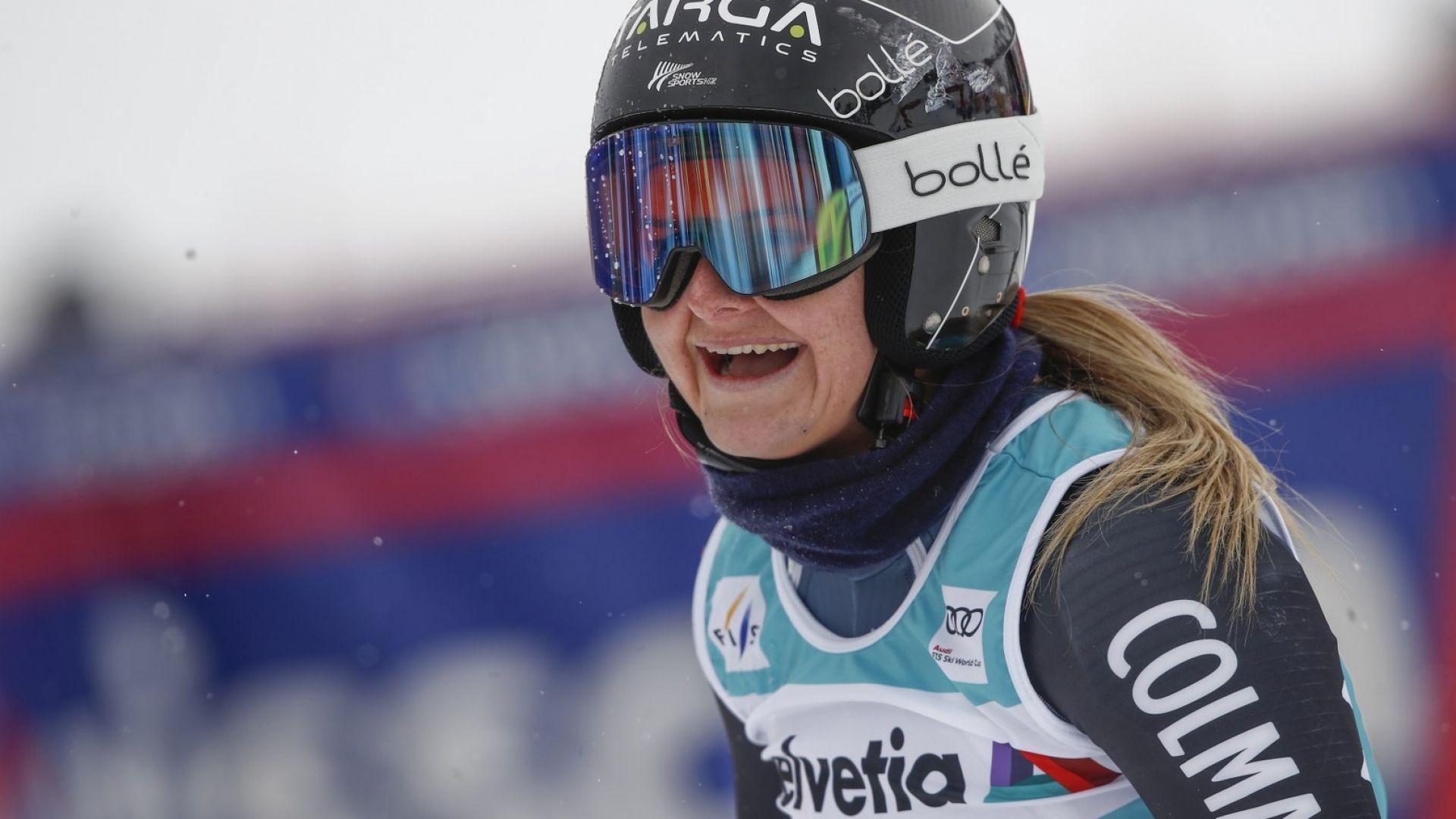 Тийнейджърка спечели последния старт в алпийските ски
