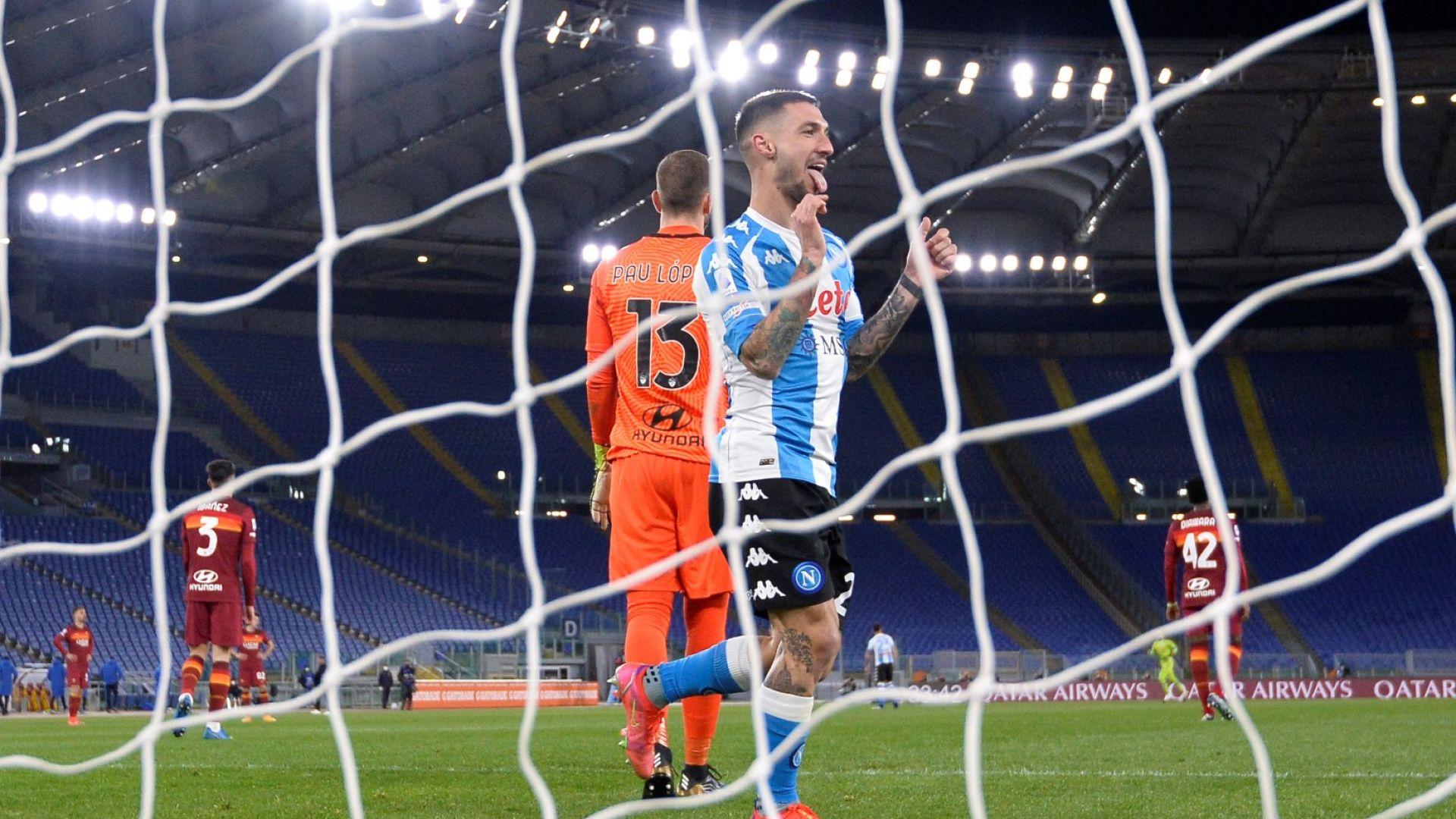 Наполи взе още една страхотна победа навън и мечтата за Шампионската лига е жива