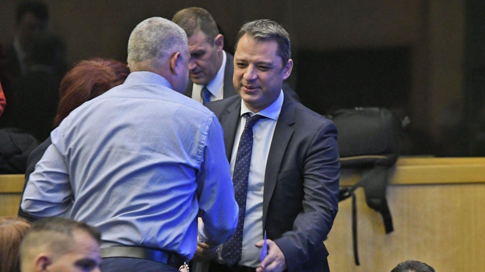 Делян Добрев по време напредставянето на кметовете на ГЕРБ на 7 ноември 2019 г.