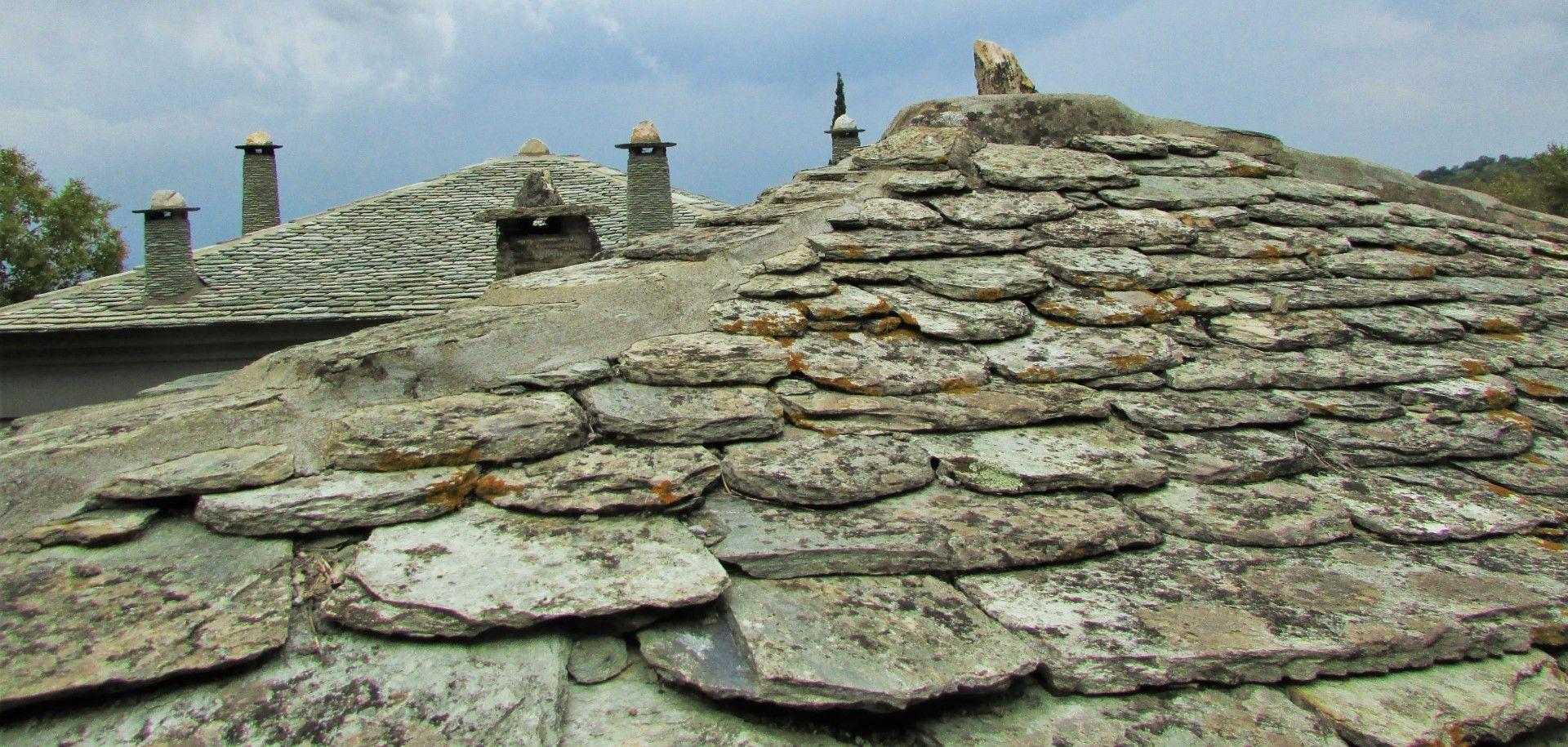 Типични покриви от селата в планината Пелион