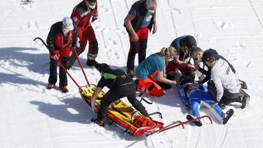 Брутално падане за олимпийски шампион на Световното по ски-скокове (видео)
