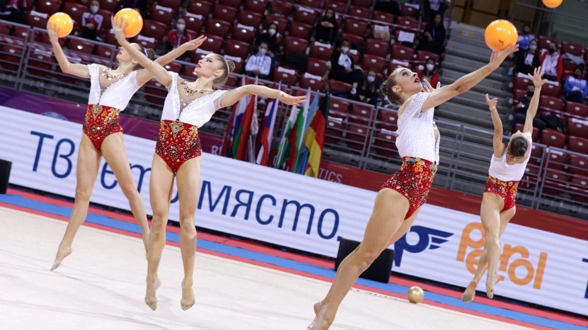 Българският ансамбъл спечели златото и при топките в София
