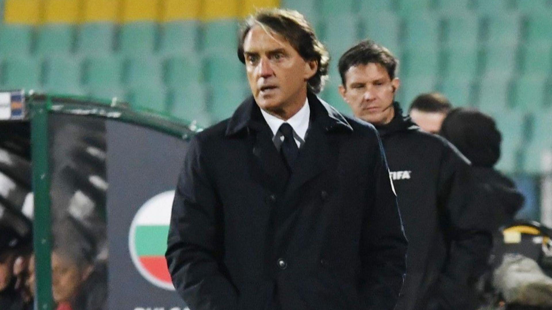 Роберто Манчини: Труден мач, българите се защитаваха по чудесен начин
