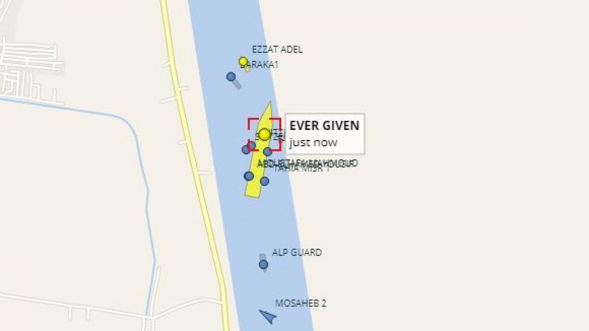 Освободиха огромния кораб, заседнал в Суецкия канал